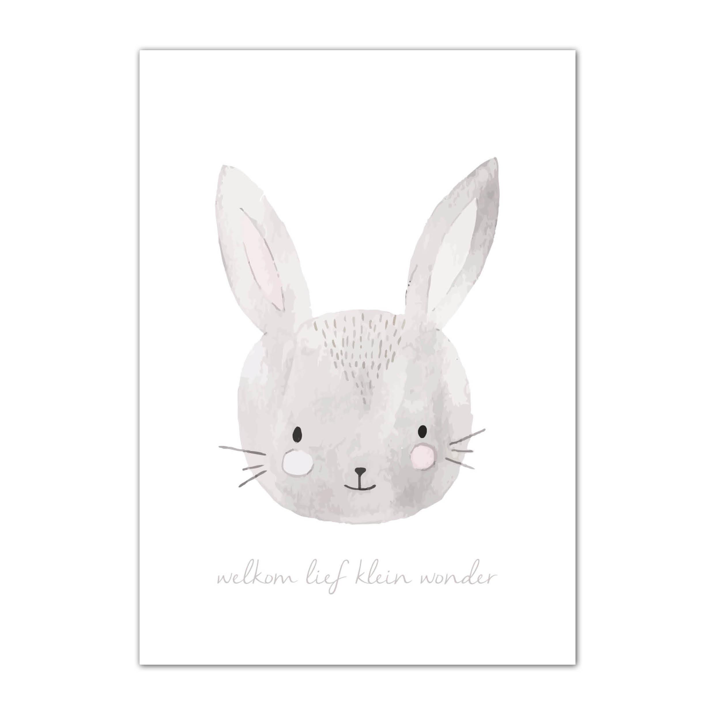 kaartje van konijn